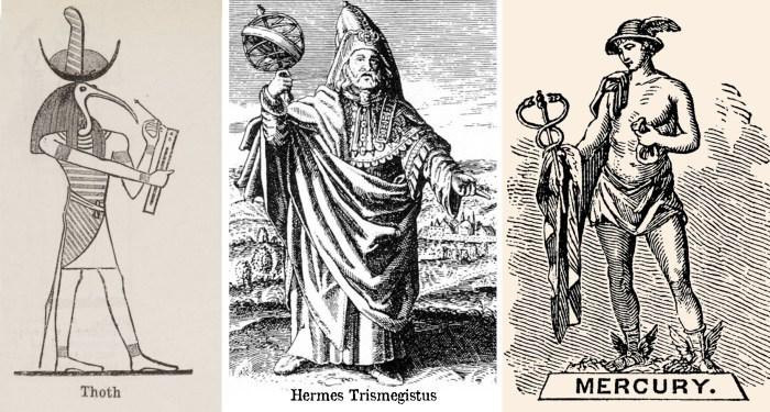 Toth, Hermes e Mercúrio. Três faces dos Deuses da Sabedoria e do conhecimento.